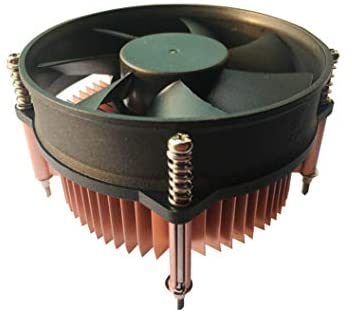 Live Tech Navy CPU Cooler Fan for LGA775 2400±10% RPM, 45-55 CFM 0.28A 12V DC Low Noise Cooling Fan & Heatsink