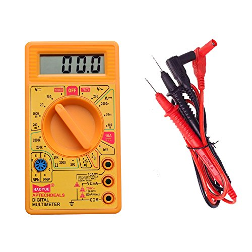 Aptechdeals Digital Multimeter LCD AC DC Measuring Voltage Current for home use.