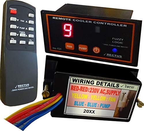 Rectus Enterprises Plastic Air Cooler on/off Timer/Humidity Controller/Remote Fan Regulator, 10.5 x 4 x 5 cm, Black