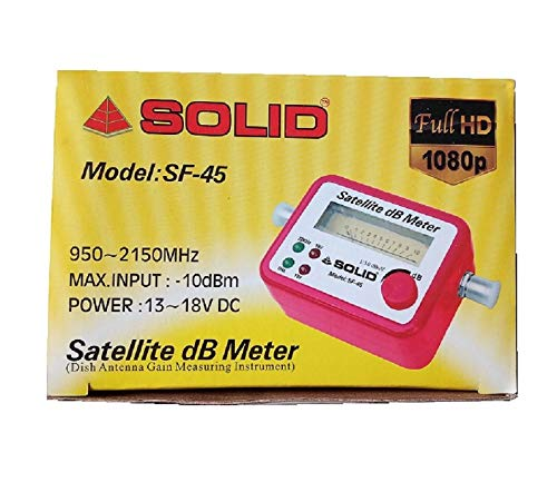 Solid Analogue Satellite Finder (Red)