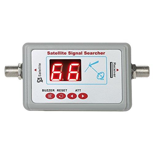 Docooler Satellite Finder, Digital Satellite Signal Finder Meter Mini Satellite Finder with Buzzer