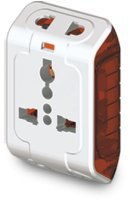 Gold Medal Curve Plus 202042 Plastic Spice 3-Pin Universal Travel Adaptor (White)