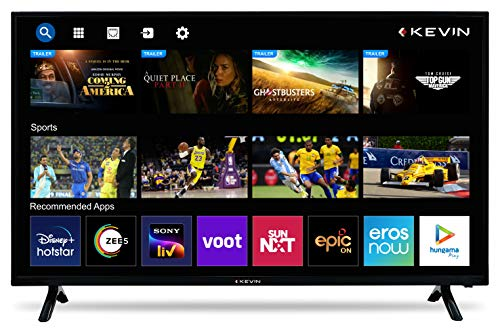 Kevin 100 cm (40 inches) HD Ready LED Smart TV KN40SCA (Black) (2021 Model)