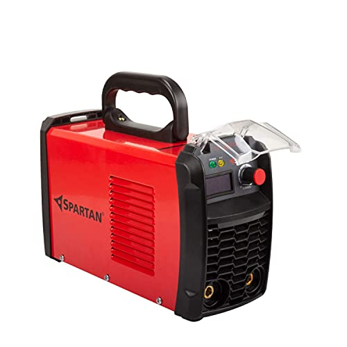 SPARTAN LT-220S12i Single Phase Inverter Welding Machine (IGBT technology) 220A with Hot Start, Anti-Stick, Arc Force, Power Boost Functions- 6 month warranty (Red & Black, Pack of 1)