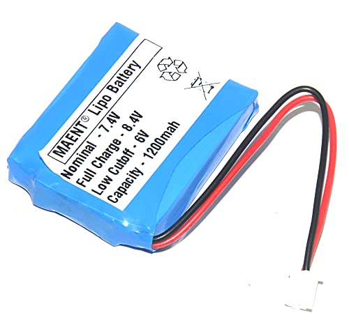 MAENT® 1Pcs Protected 7.4V 1200mah Lithium Polymer Rechargeable Battery lipo Battery for GPS PSP Bluetooth Speaker POS Satellite Finder Digital Satellite db Meter - M25