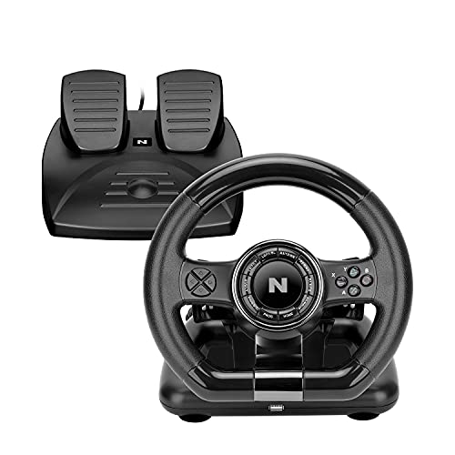 NiTHO DRIVE PRO RACING WHEEL & PEDAL SET, compatible with PC/PS3/PS4/XBOX1/Switch